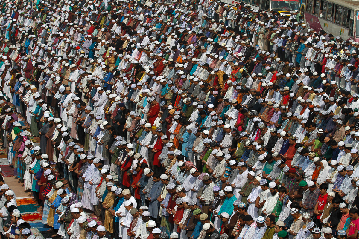 Bishwa Ijtema is the second largest annual Islamic gathering in the world. [Mahmud Hossain Opu/Al Jazeera]