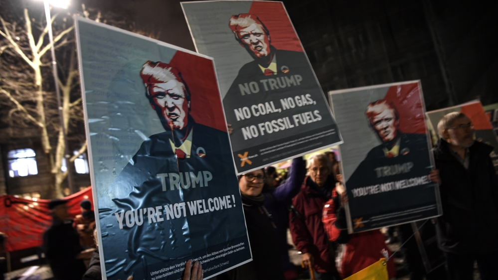 Trump at Davos: America first amid Swiss protests