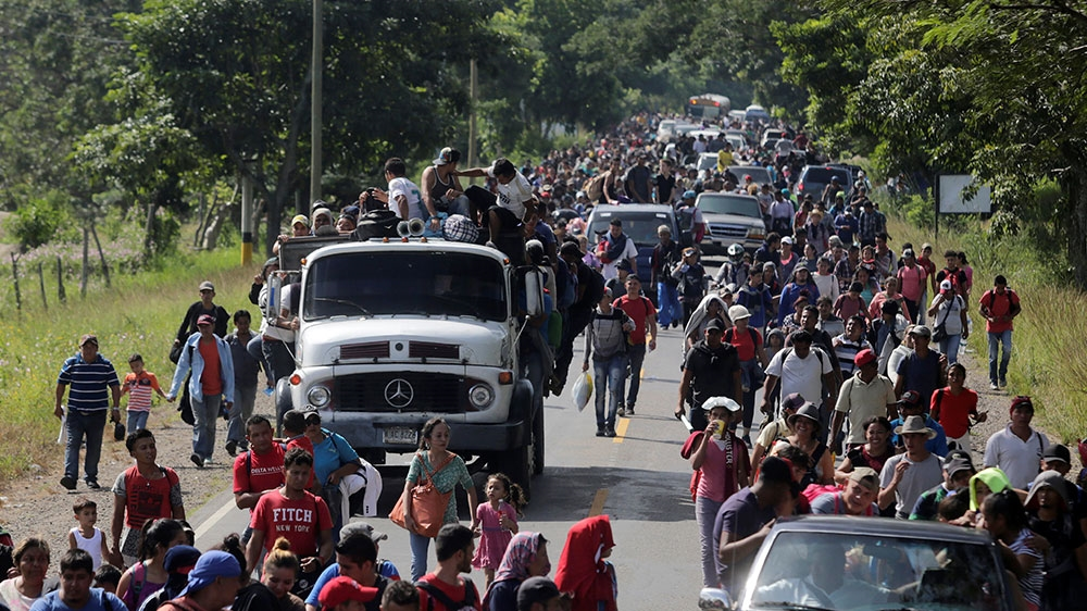 Image result for caravan stopped in guatemala