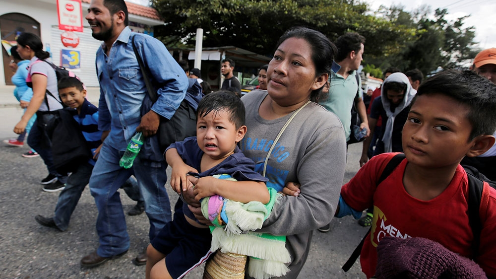 Honduran Migrants React After Crossing The Border Between Honduras And Guatemala In Agua Caliente Jorge Cabrera Reuters