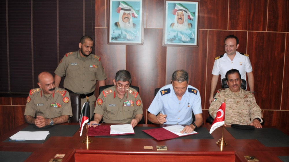 Kuwaiti and Turkish army officials signed an agreement in Kuwait City on October 10