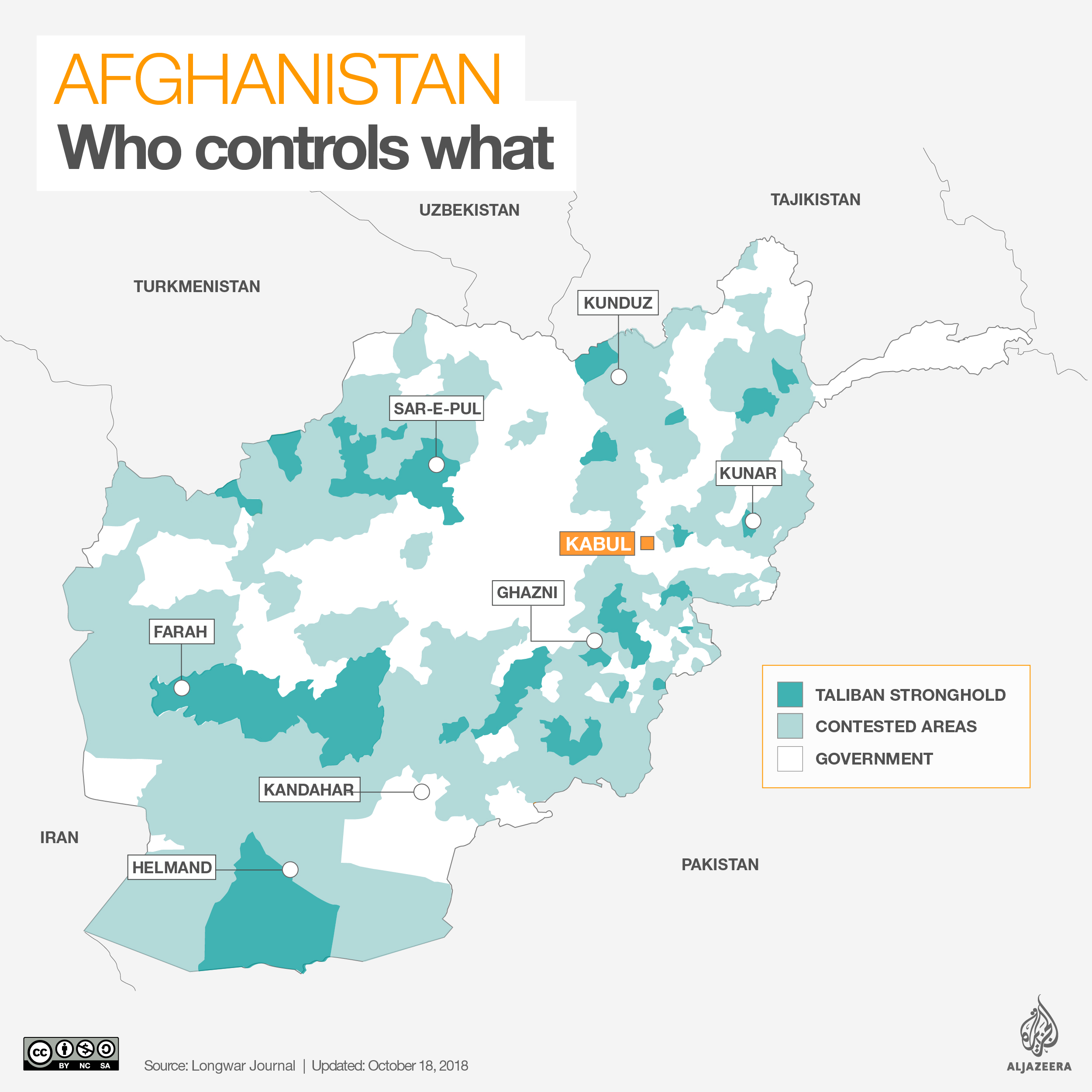 Watchdog: Afghanistan at 'Lowest Level' of Territorial Control amid Taliban Pressure