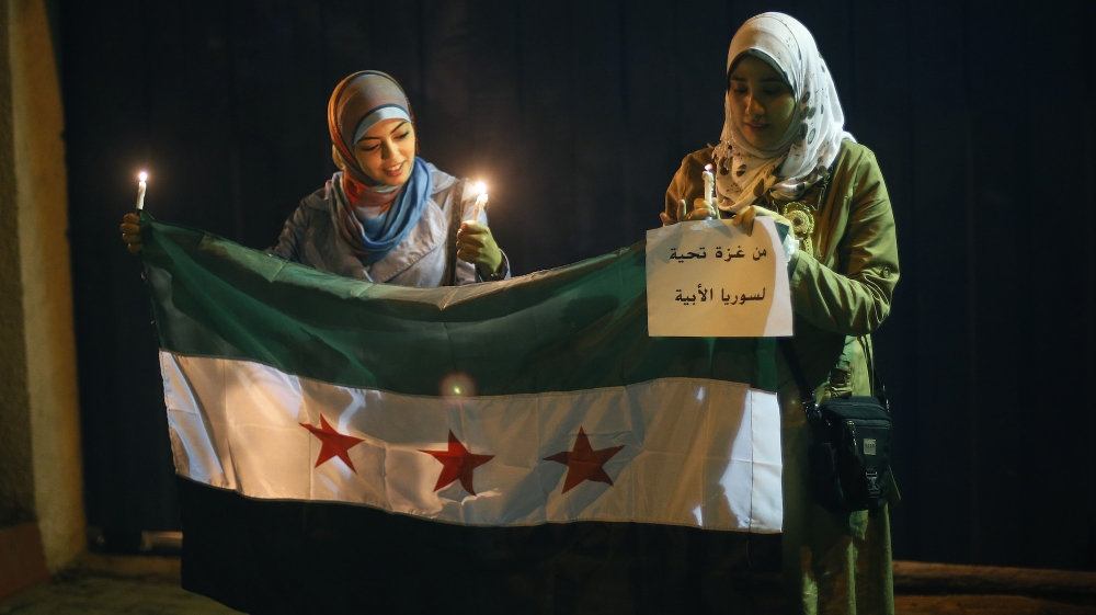 How do Palestinians see the Syrian war?