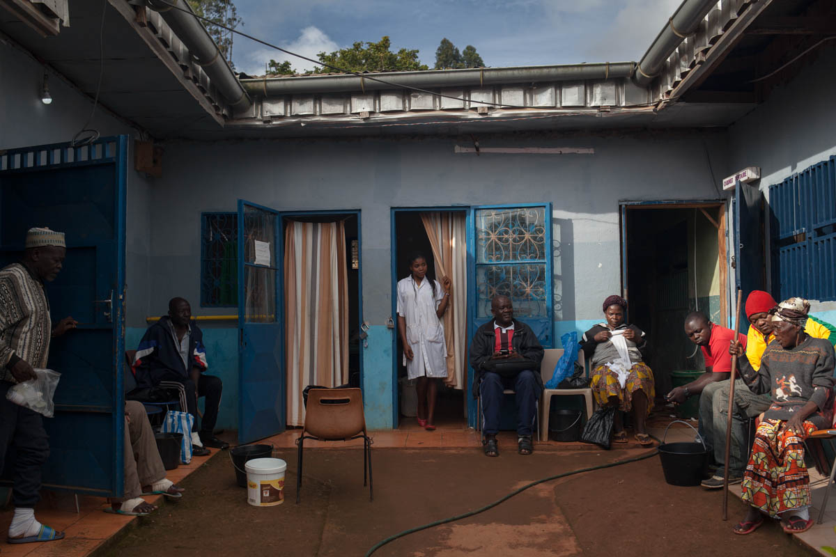 When the hospital started in 2008, it only had 10 beds. Today, 42 of the 45 hospital places are occupied. About 20 patients from the area are treated externally and some come to monitor their wounds and change dressings. [Adrienne Surprenant/Collectif Item/Al Jazeera]