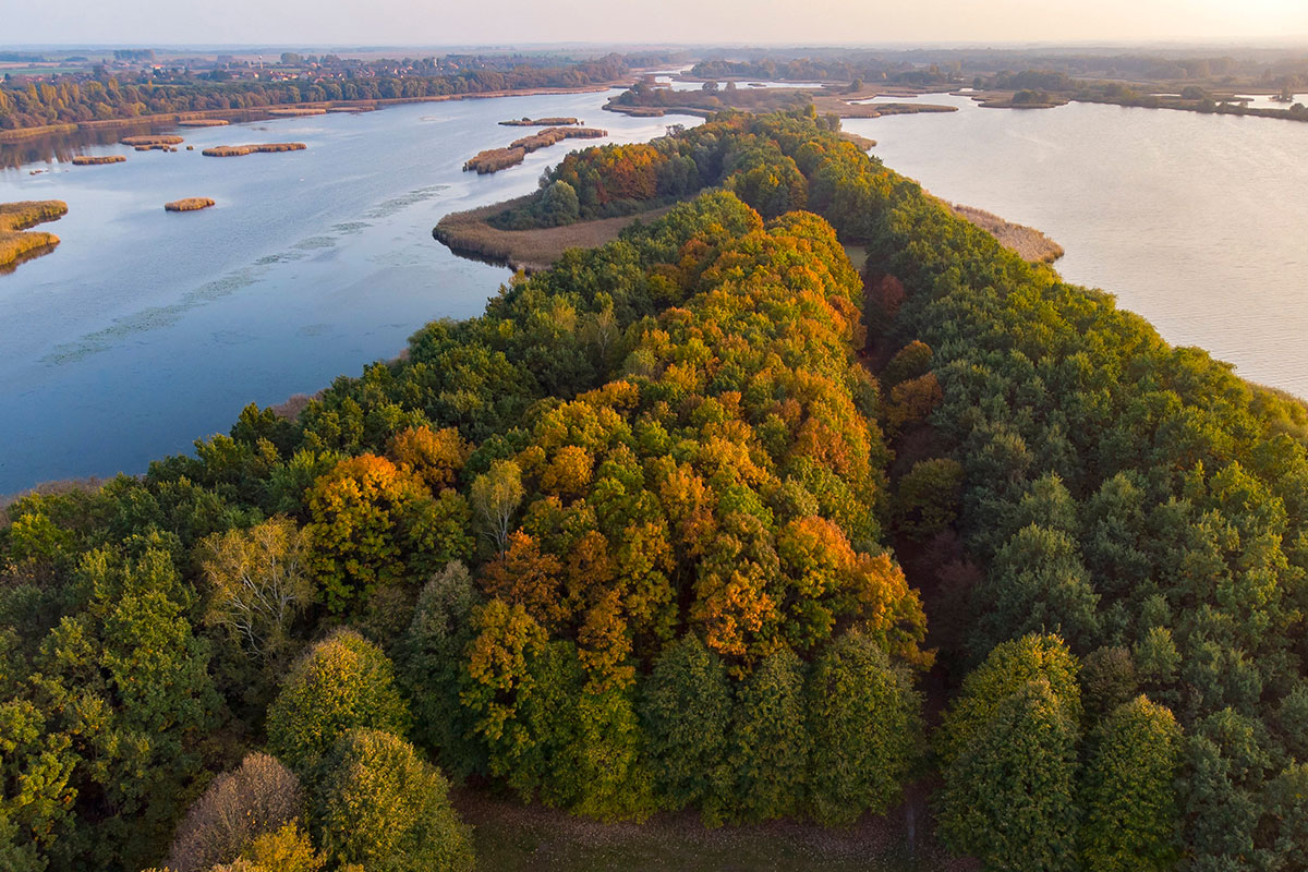 The Hungarian countryside was glowing with the colours of autumn near Balatonmagyarod. [Gyorgy Varga/EPA]
