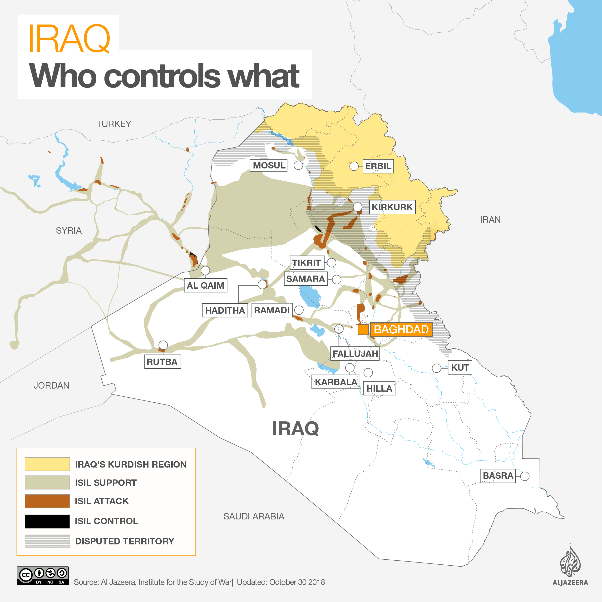 Iraq war map: Who controls what | ISIS/ISIL | Al Jazeera Geopolitical Map Of Florida on tierra del fuego map, geographical map, present day map, east and southeast asia map, world map, africa map, historical map, history map, cartography map, topological map, political map, data visualization map, us and north america map, geographic map,