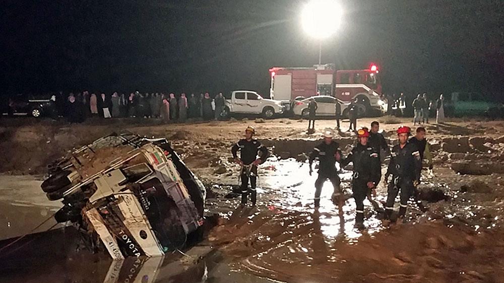 Jordania: lluvias e inundaciones matan a 11 personas, obligan a los turistas a huir de Petra | Noticias