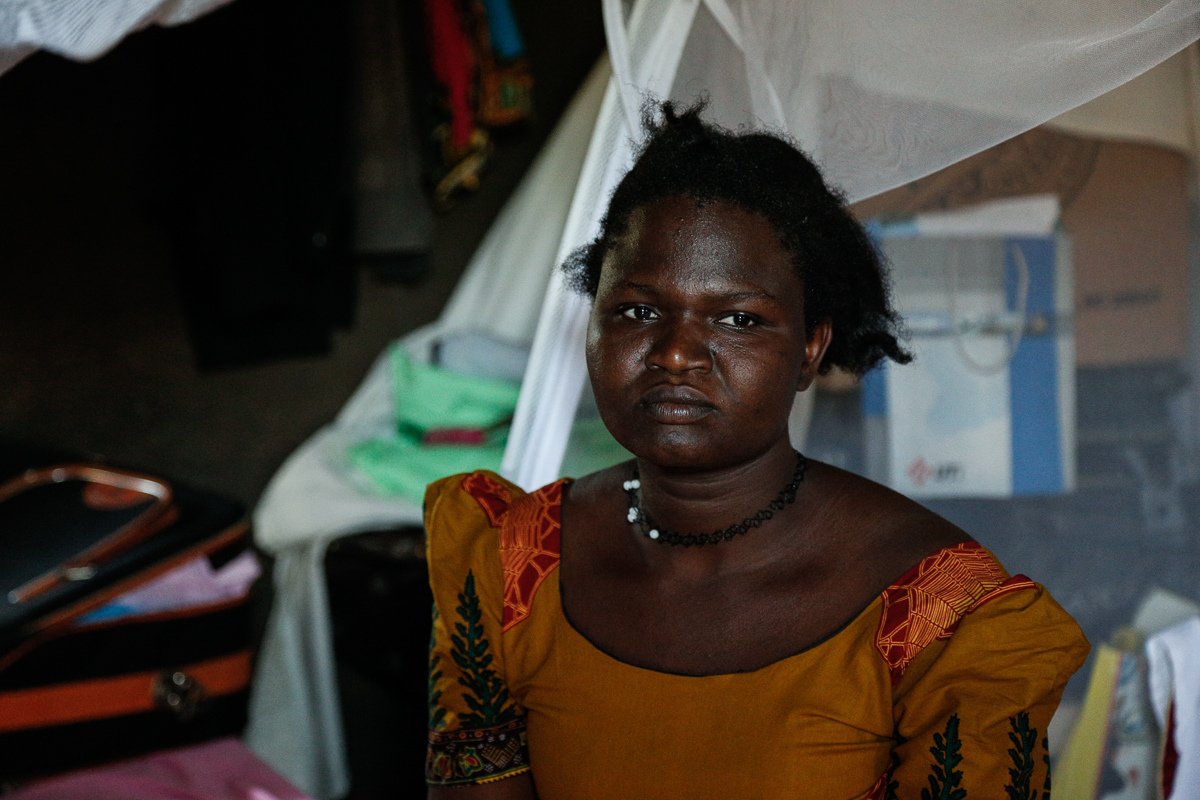 'I was traumatised when my child passed away. She died inside my womb when she was seven months,' says Esther Namadi, 29, a participant in the Morning Star workshop who wants to work through her traumas and build a better life for herself. [Viktorija Mickute/Al Jazeera]
