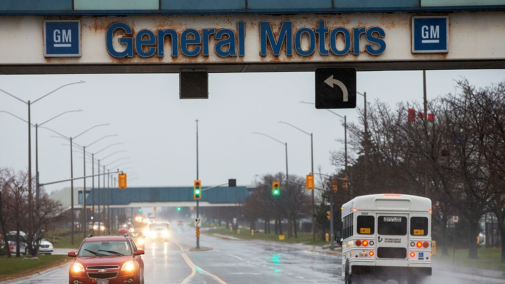 The General Motors assembly plant in Oshawa Ontario Canada
