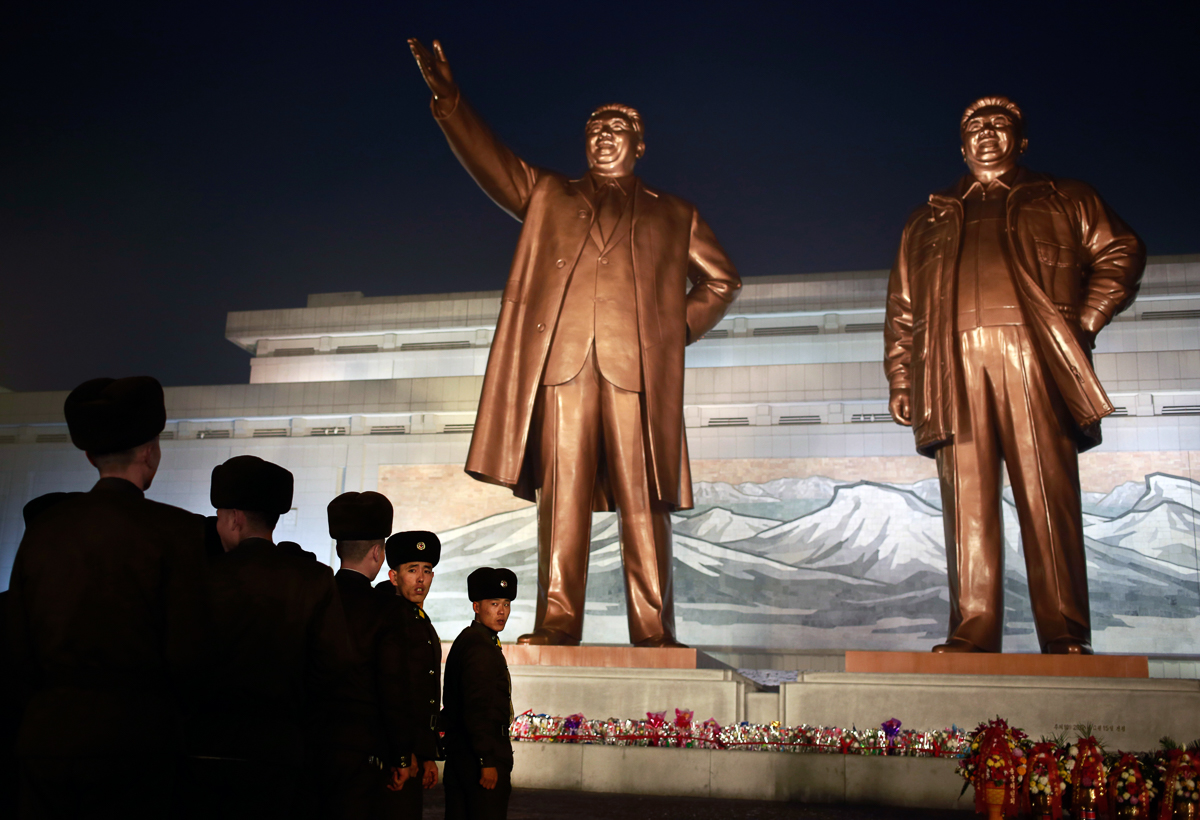 North Koreans mark the death of leader Kim Jong Il