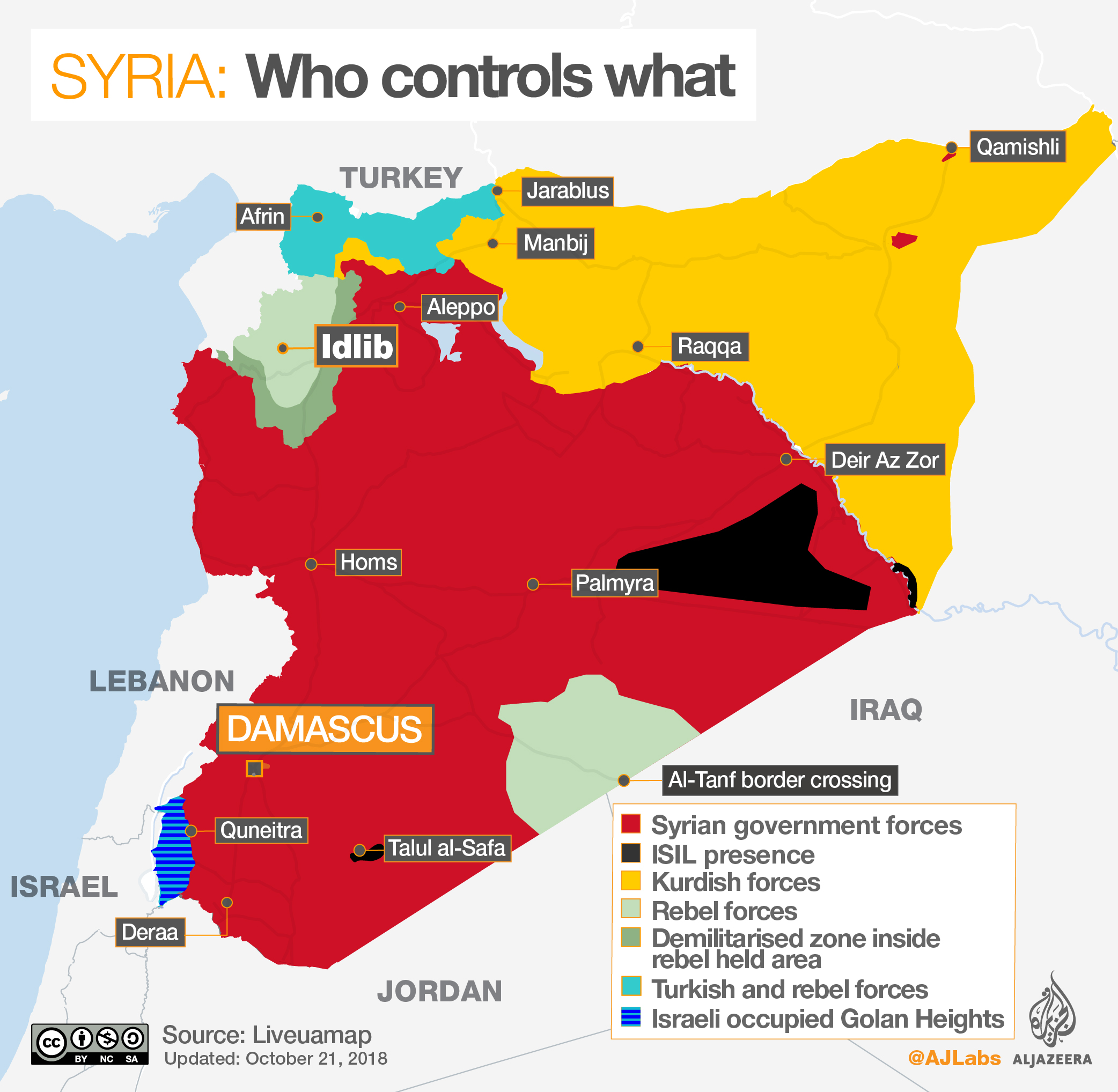 Syrian Territory Map Good Riddance to General Mattis and the Rest of Washington's Mad