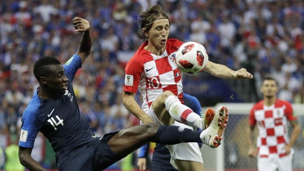 Modric guided Croatia to the World Cup final against France