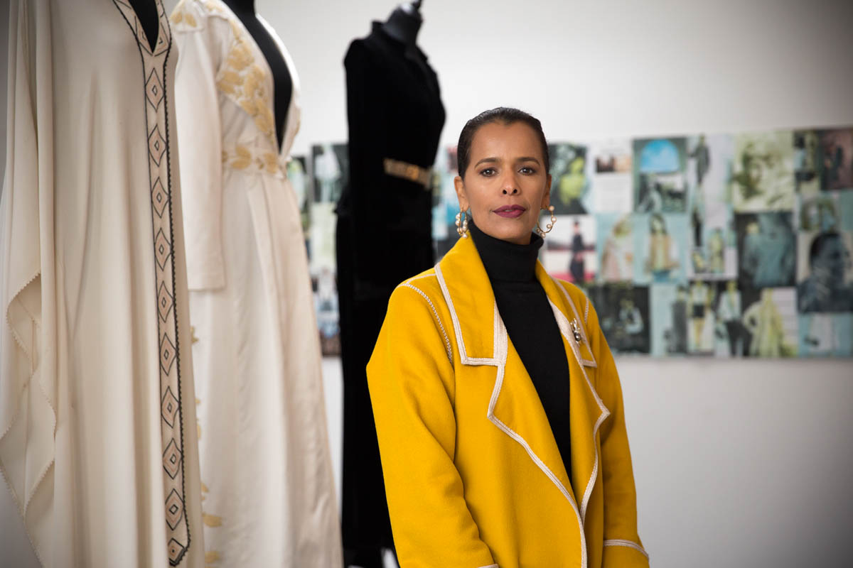 Fadila returned to her hometown of Sale after graduating from a fashion design school in the neighbouring city of Rabat, the country's capital. Opening such a school, she said, was not only her dream but also a necessity to keep the tradition alive. [Faras Ghani/Al Jazeera]