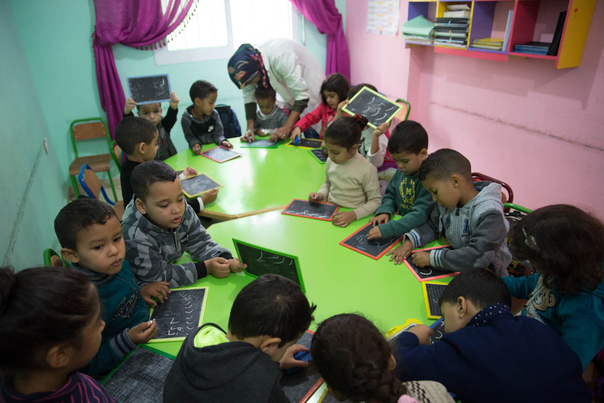 The school was launched in 2017 and currently enrols about 70 children. [Faras Ghani/Al Jazeera]