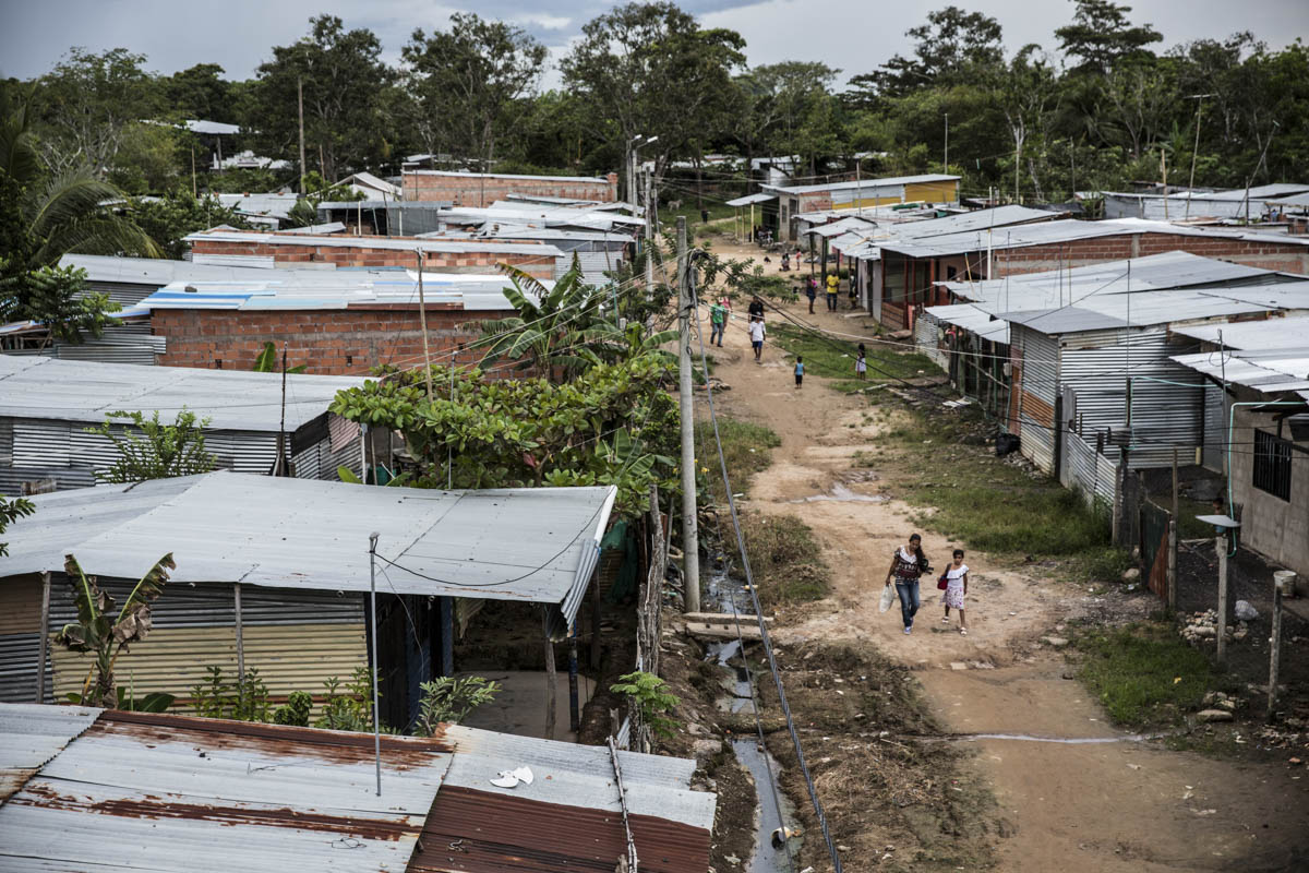 The New Jerusalem settlement in Arauca, Colombia, which is just across the border from Venezuela. [Glenna Gordon/Save the Children]