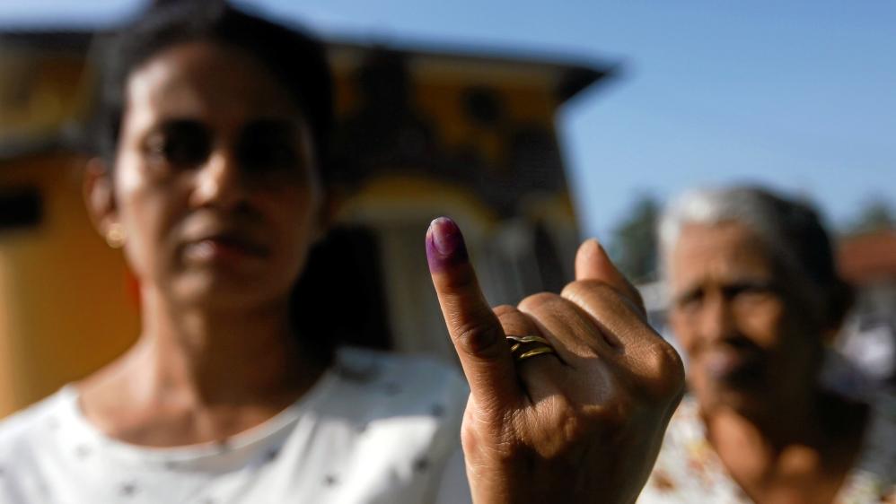 Former Sri Lankan president takes lead at local gov't polls