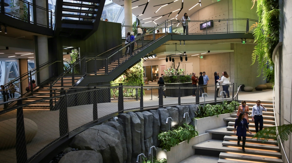 Amazon Com Treats Employees With Rainforest Workplace