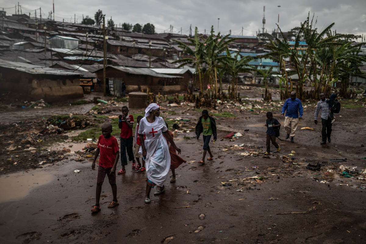 The rainy season brings relief to the drought-hit areas, but for the residents of Kibera the rains can be a sign of the worst to come. [Brian Otieno/Al Jazeera]
