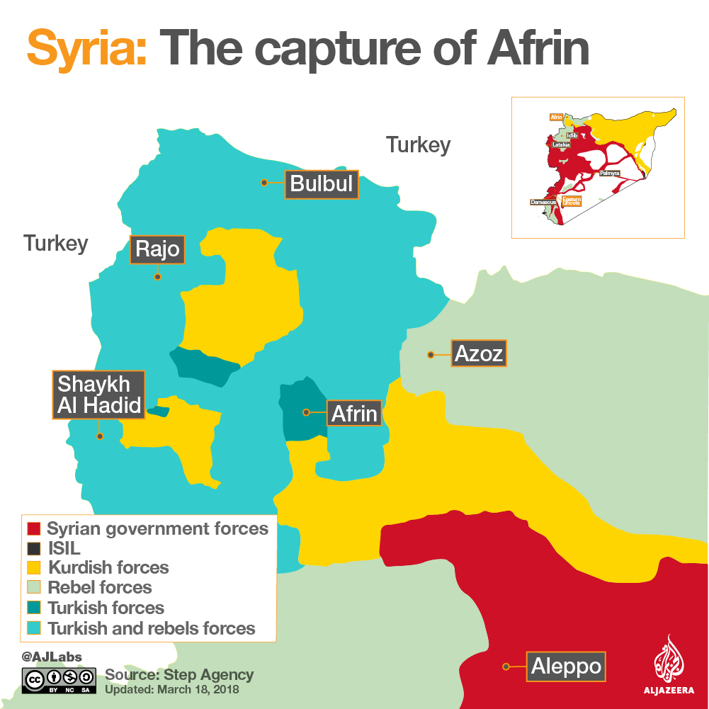 Syrian civil war map Whos in control where Humanitarian Web