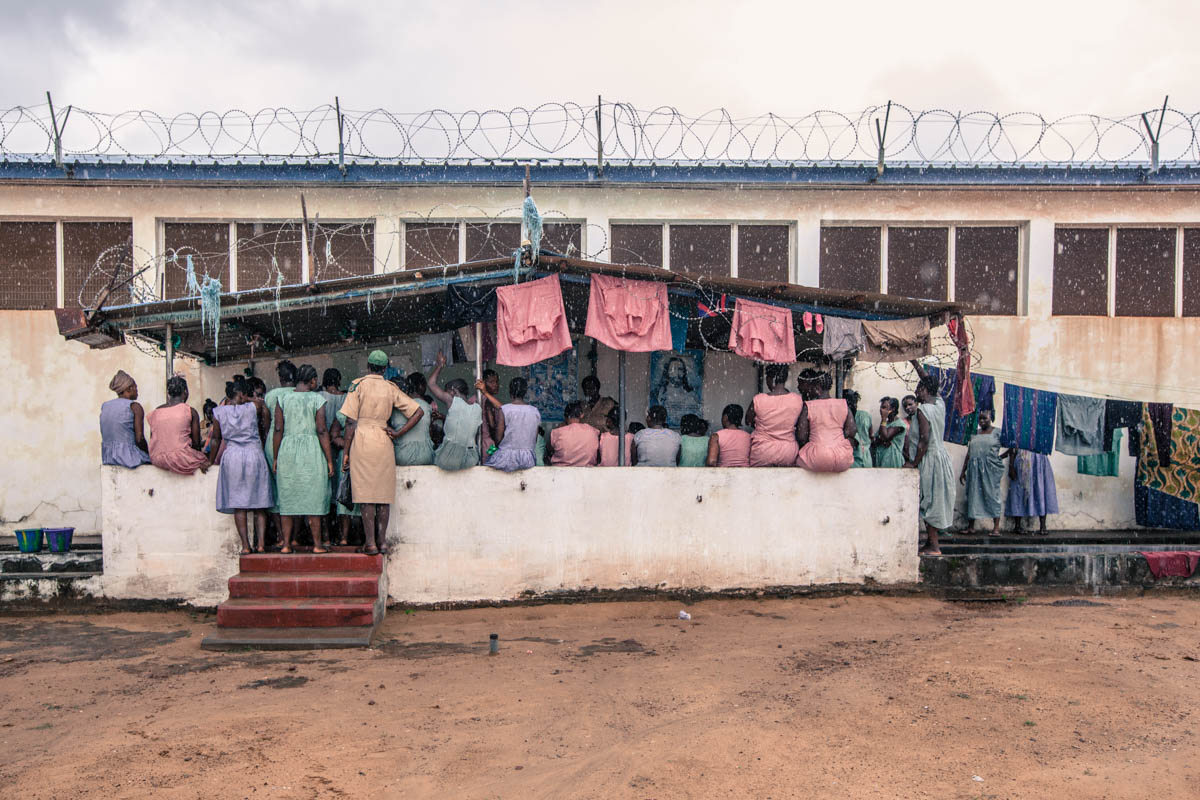 Freetown Female Prison, located in the centre of Sierra Leone's capital, is the former detention facility of the Special Court for Sierra Leone, where men accused of war crimes during Sierra Leone's 11-year civil war were detained. [Boaz Reisel/AdvocAid]