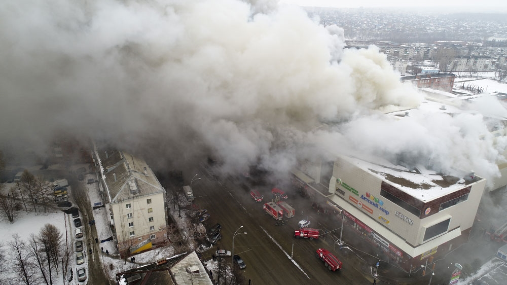 Russian provincial governor resigns over Siberia mall fire