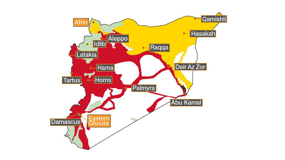 Syrian civil war map: Who's in control where   Al Jazeera