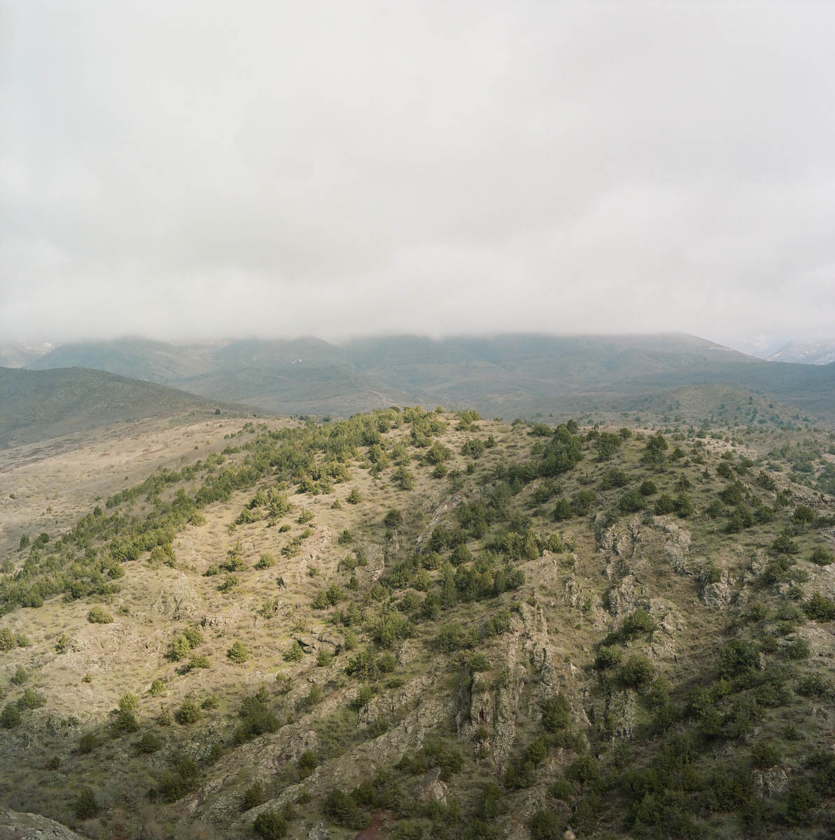 Looking across the valley from the Aghavnatun minefield. [Eva Clifford/Al Jazeera]