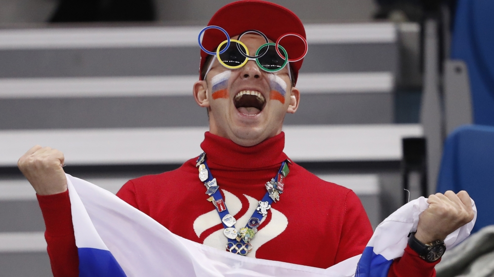 Russian athletes enjoyed a fair bit of support inside the arena