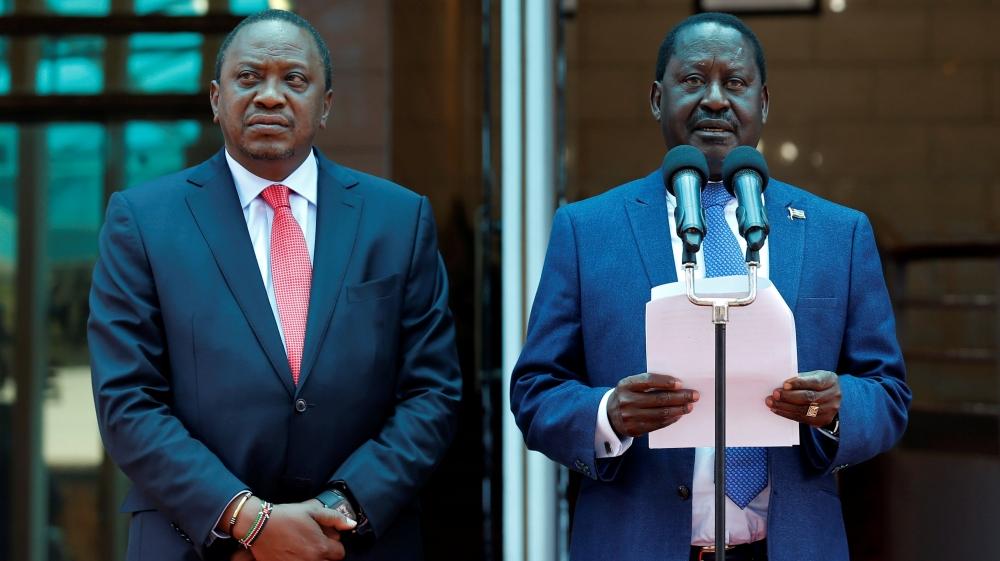 Raila Odinga and Kenyatta