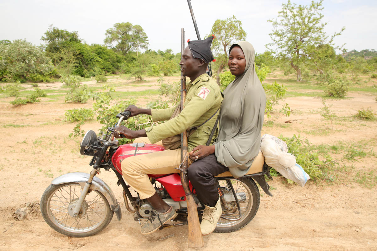 Motorcycles are the easiest way to move around in Sambisa Forest where Boko Haram have hideouts. [Rosie Collyer/Al Jazeera]