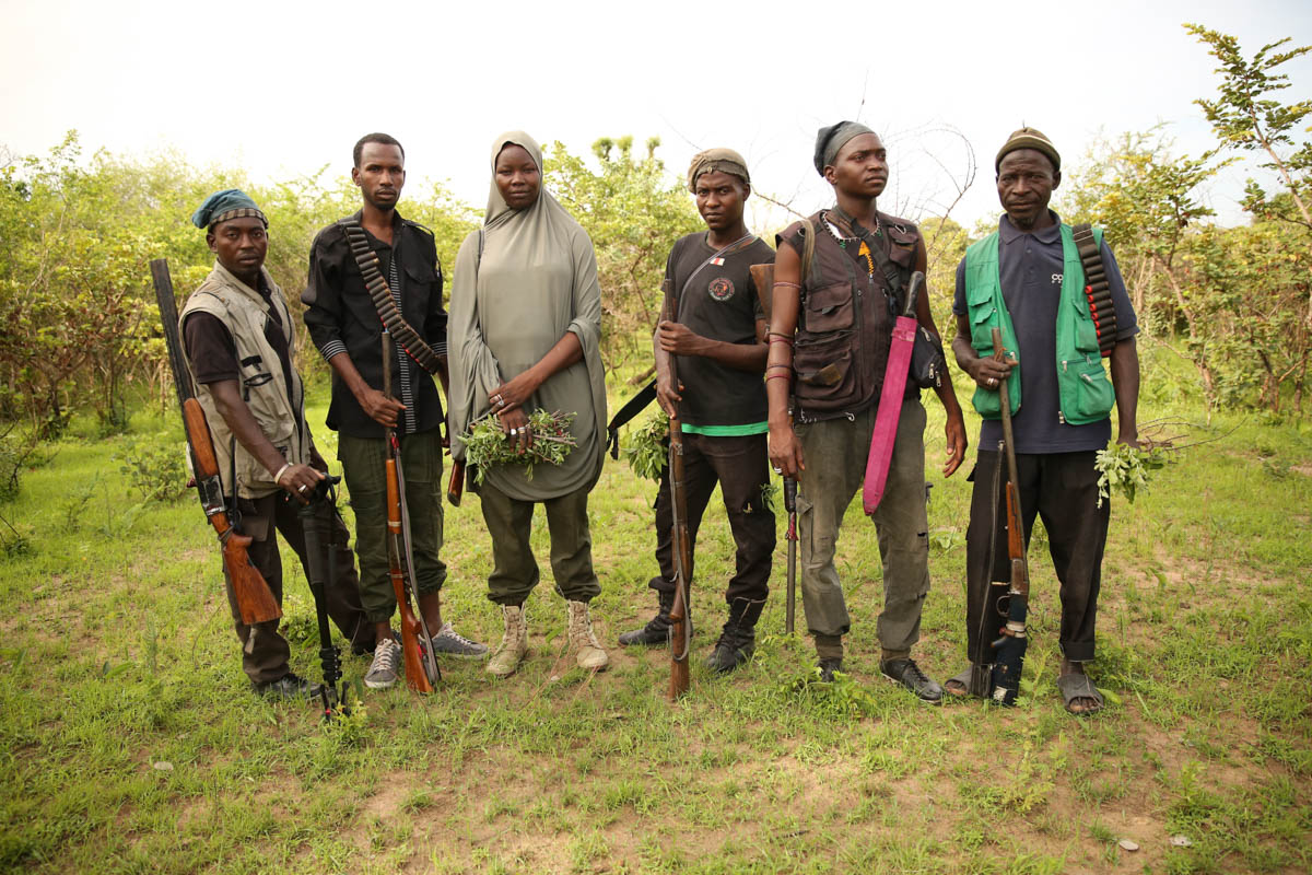 Hunters know Sambisa Forest better than anyone, so the military uses them to track down fighters who hide there. [Rosie Collyer/Al Jazeera]