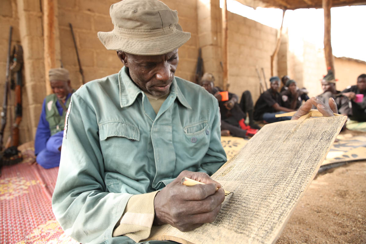 Bukar Jimeta  was a devout Muslim, and he believed in the African gods of nature and of war. [Rosie Collyer/Al Jazeera]