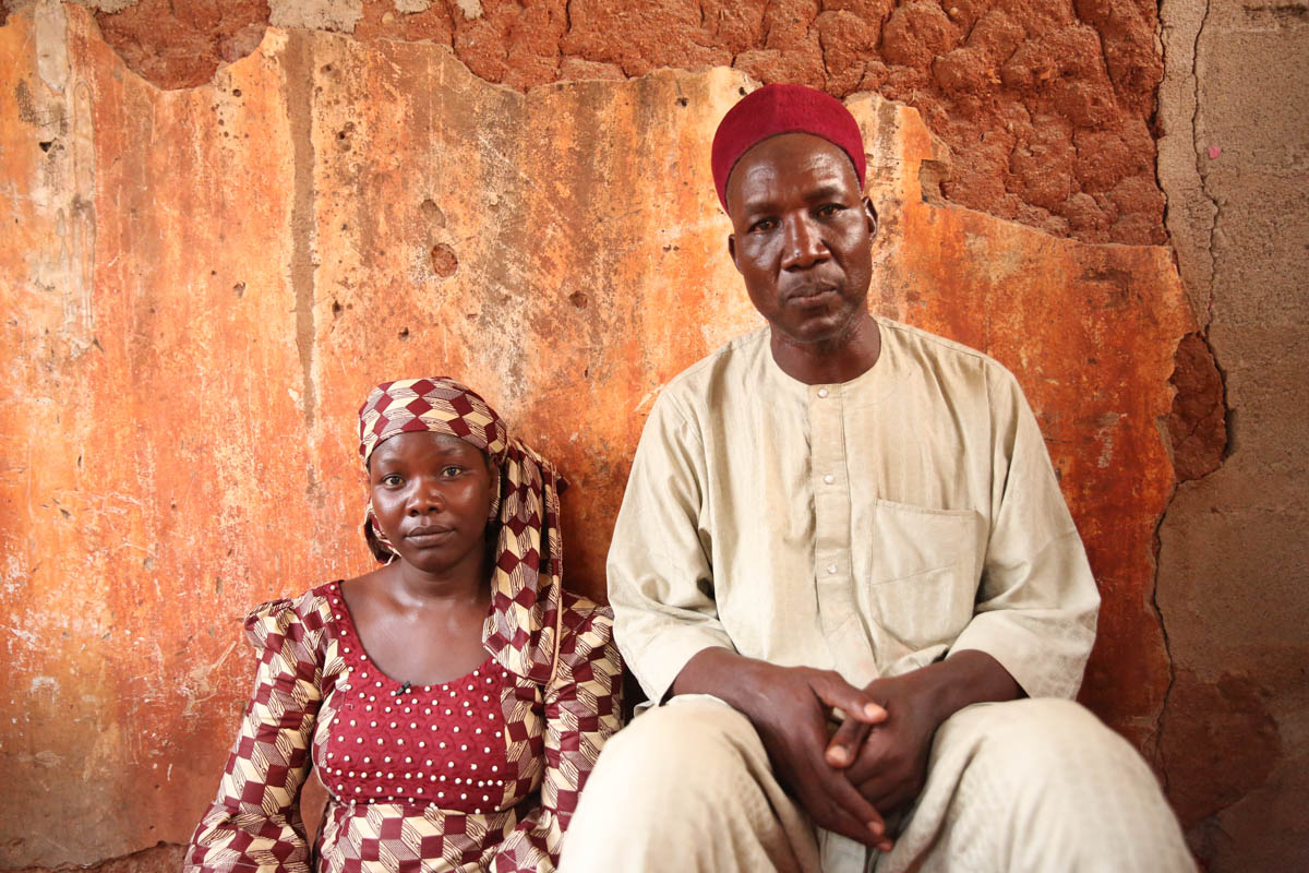 Aisha was single for many years until her fight against Boko Haram captured the heart of her now husband, Muhammadu. [Rosie Collyer/Al Jazeera]