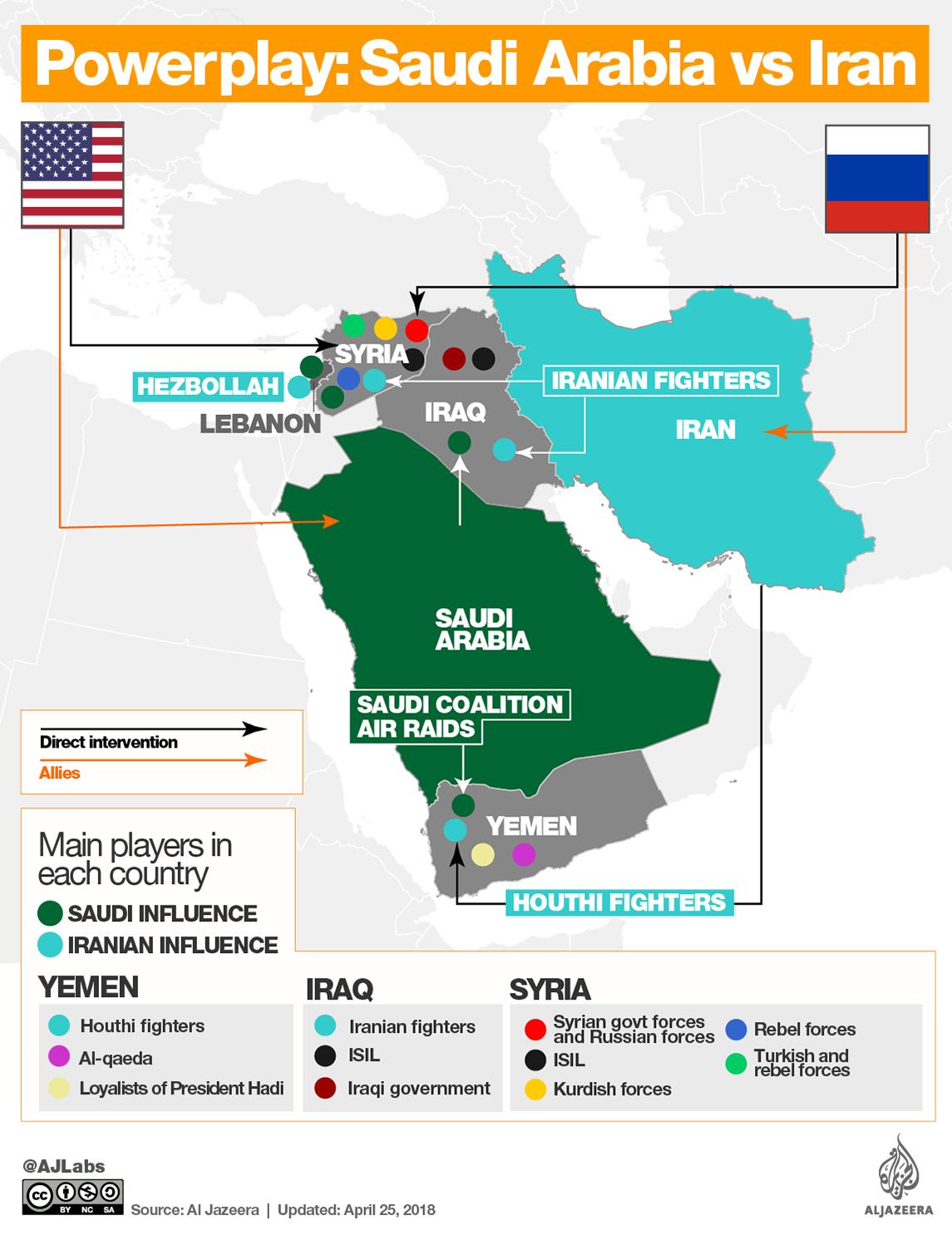 Image result for iran saudi arabia map