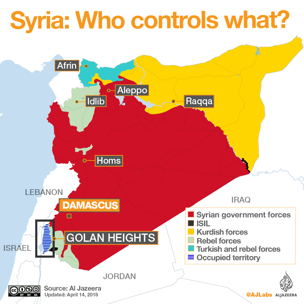 Syrian civil war map Whos in control where Al Jazeera