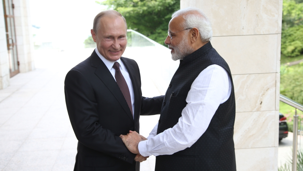 Modi meets Putin as India walks US-Russia tightrope