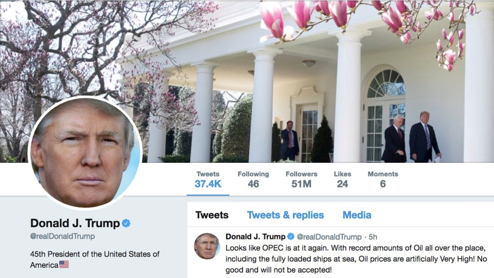 Twitter says no sanctions against Trump for abusive tweets thumbnail