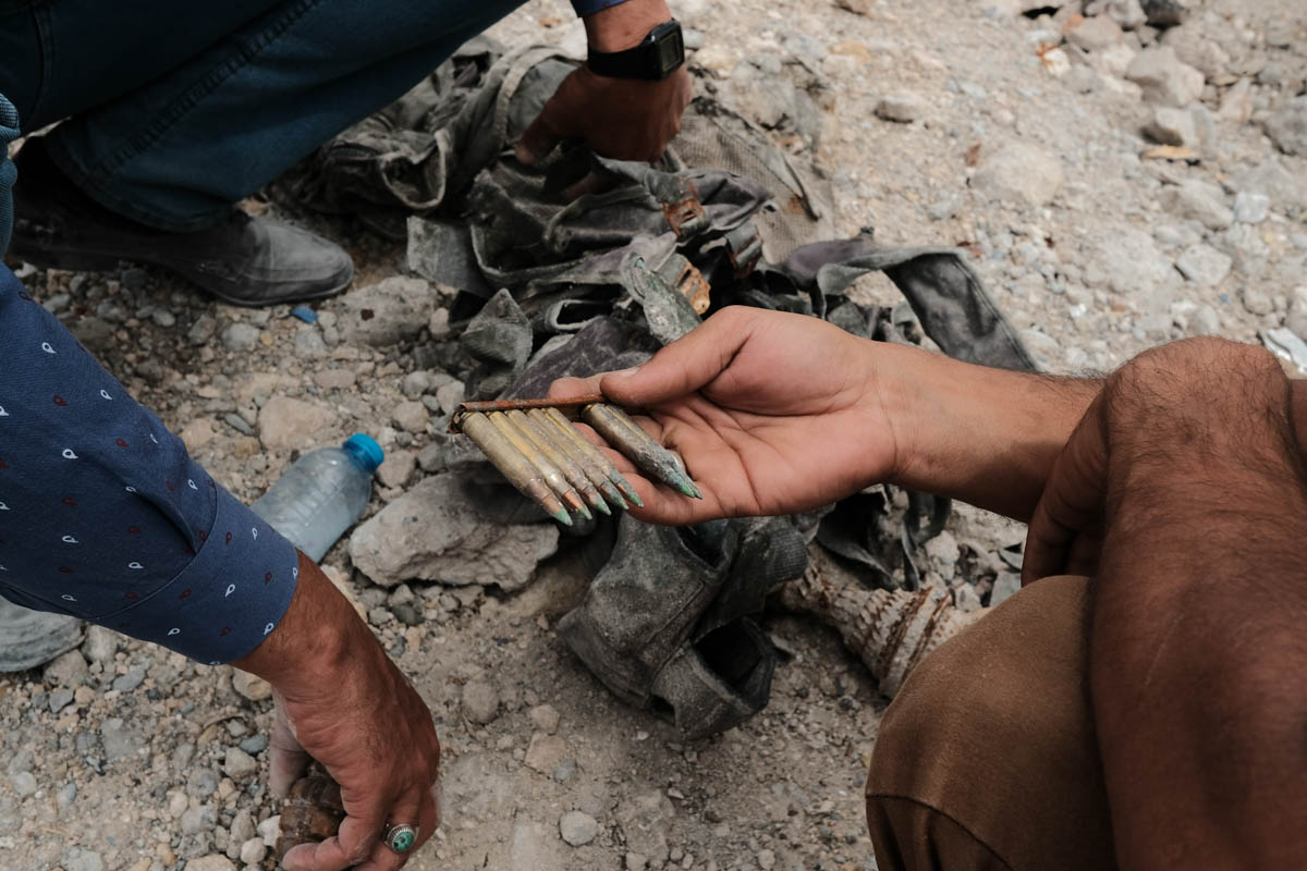 Mosul's old town is one of the most weapon-contaminated places on the Earth. It is littered with hand grenades, unexploded artillery, pressure plates and complex booby traps. [Vincent Haiges/Al Jazeera]