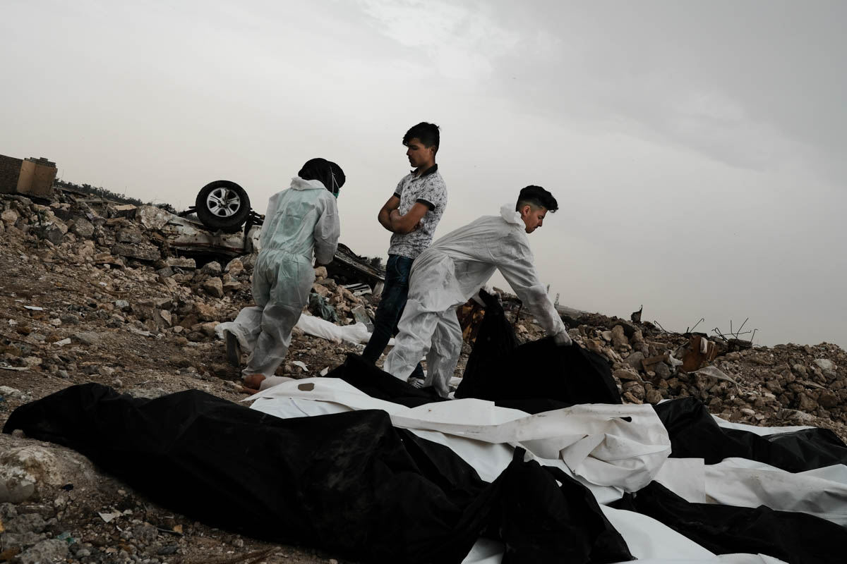 On an average day, the group finds up to 20 dead bodies. On some days, they have found up to 200 dead bodies. [Vincent Haiges/Al Jazeera]