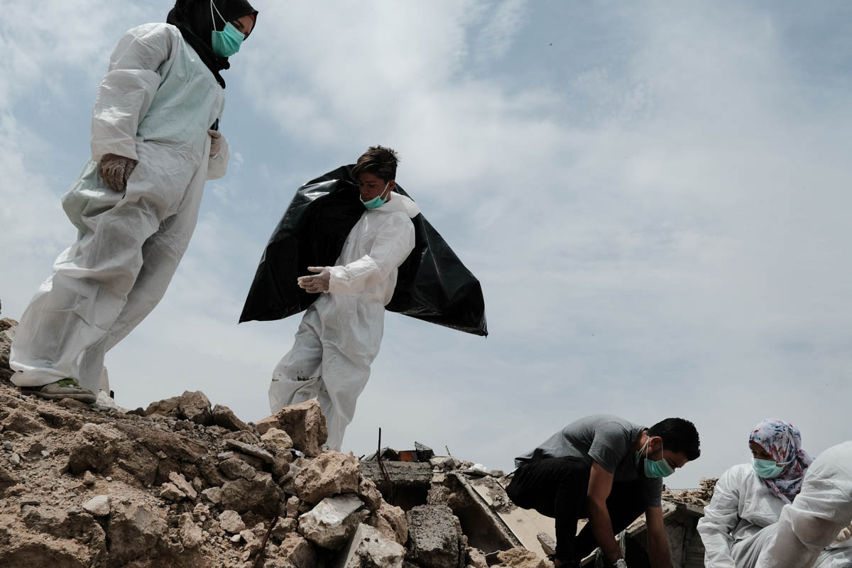 The group estimates that 80 to 90 percent of the bodies they collected are ISIL fighters. [Vincent Haiges/Al Jazeera]