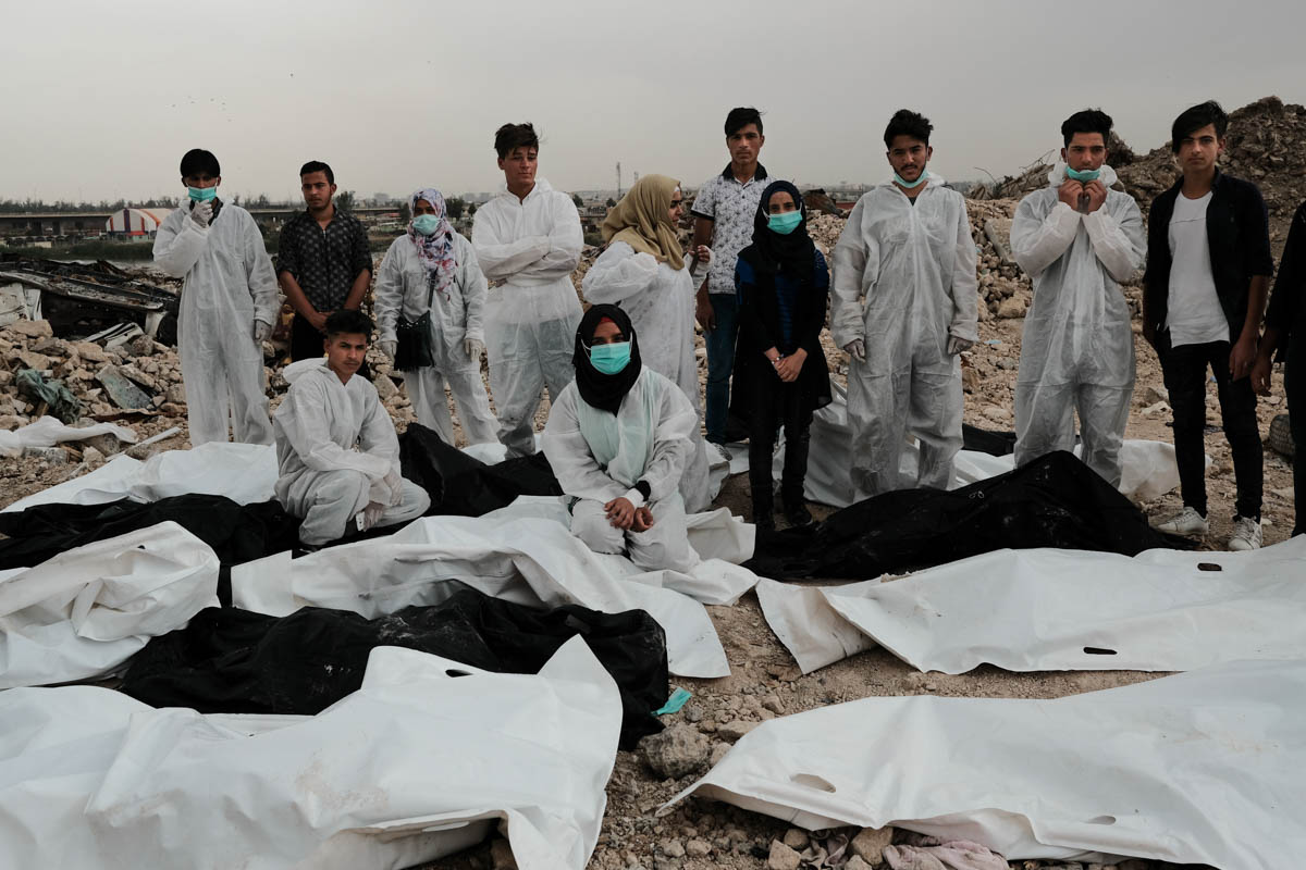 By their own estimations, the group has found up to 1,200 dead bodies since they started there work in October 2017. [Vincent Haiges/Al Jazeera]