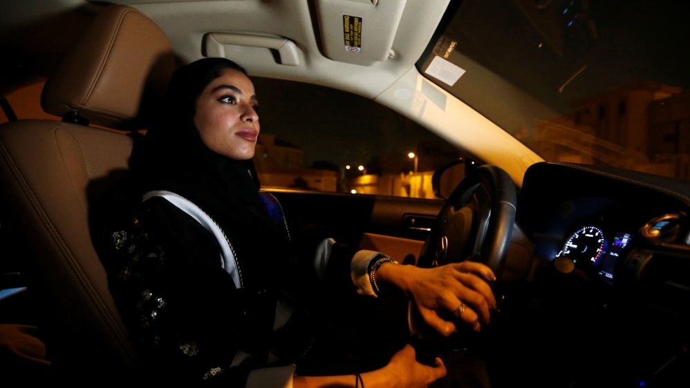 Saudi women hit the road after driving ban is...
