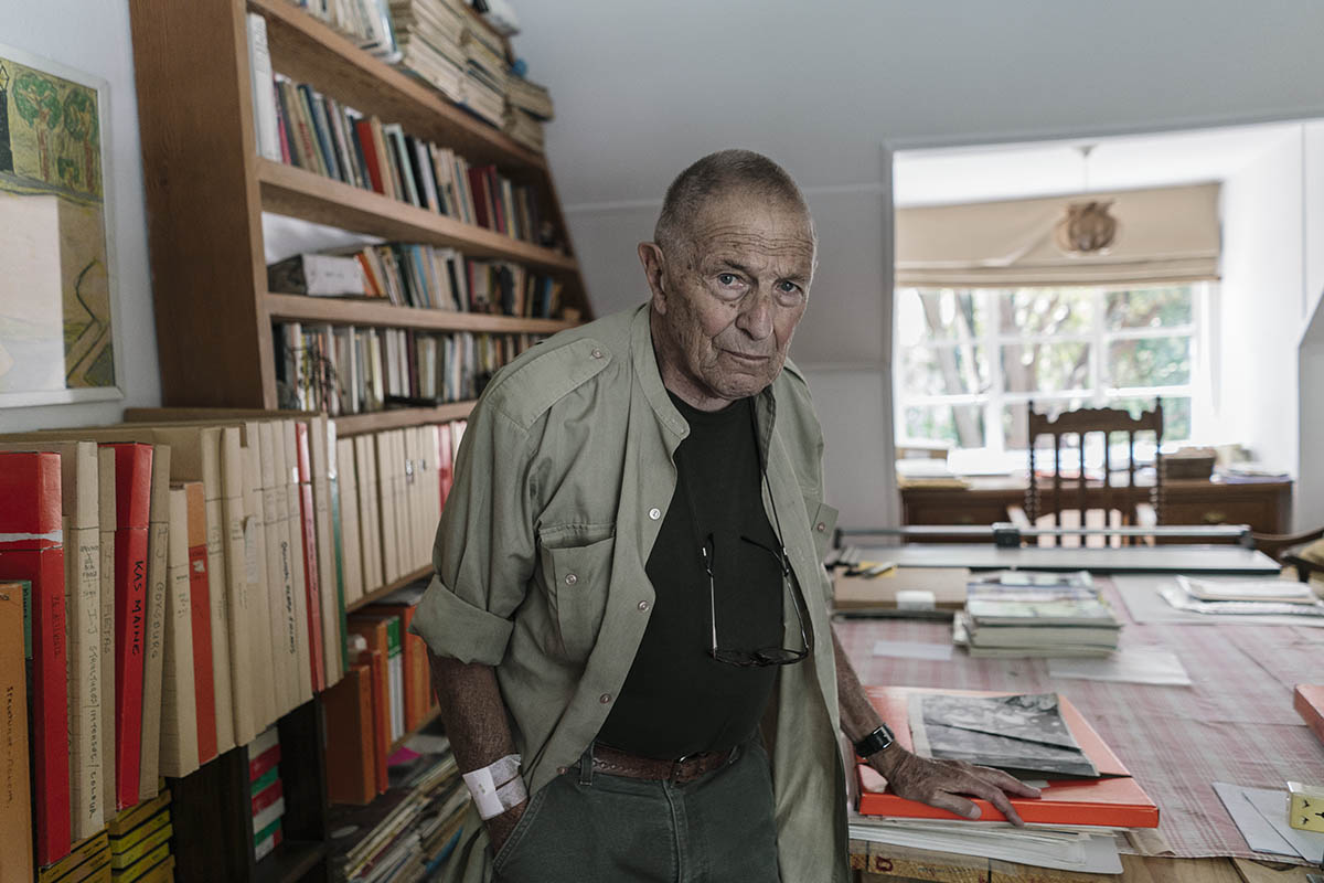 Portrait of David Goldblatt. [Mikhael Subotzky/Goodman Gallery]