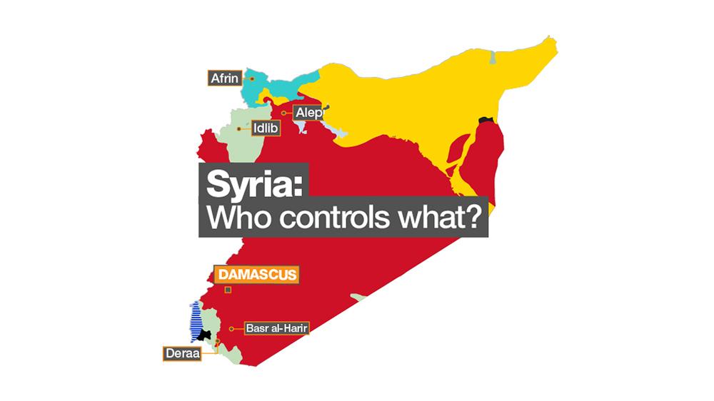 Risultati immagini per syria: who controls what