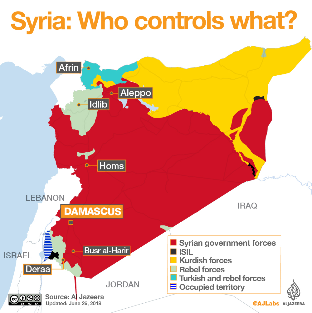 the rebels and isil also control areas along the borders with jordan and the israeli occupied golan heights