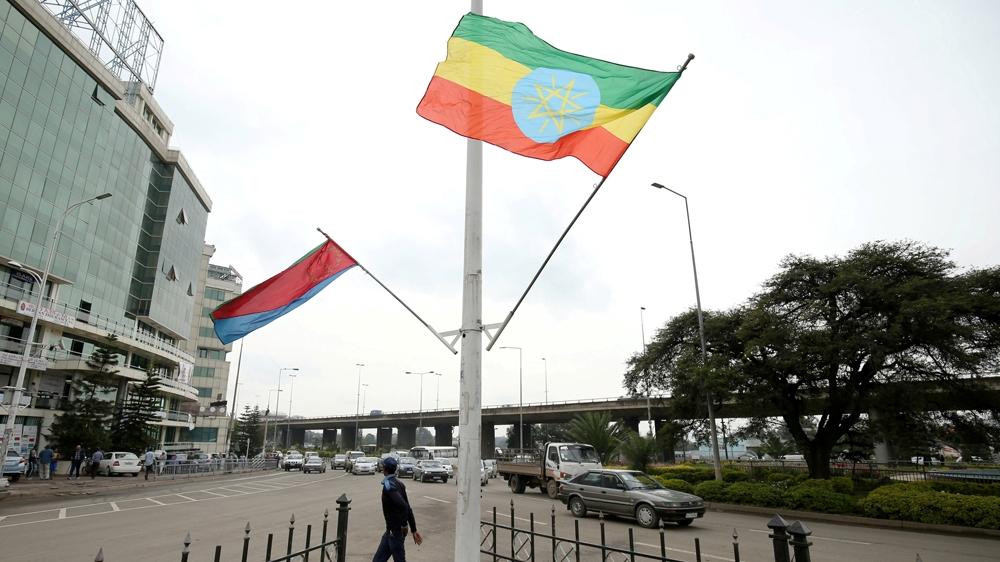 Eritrean president Isaias Afwerki arrives in Ethiopia