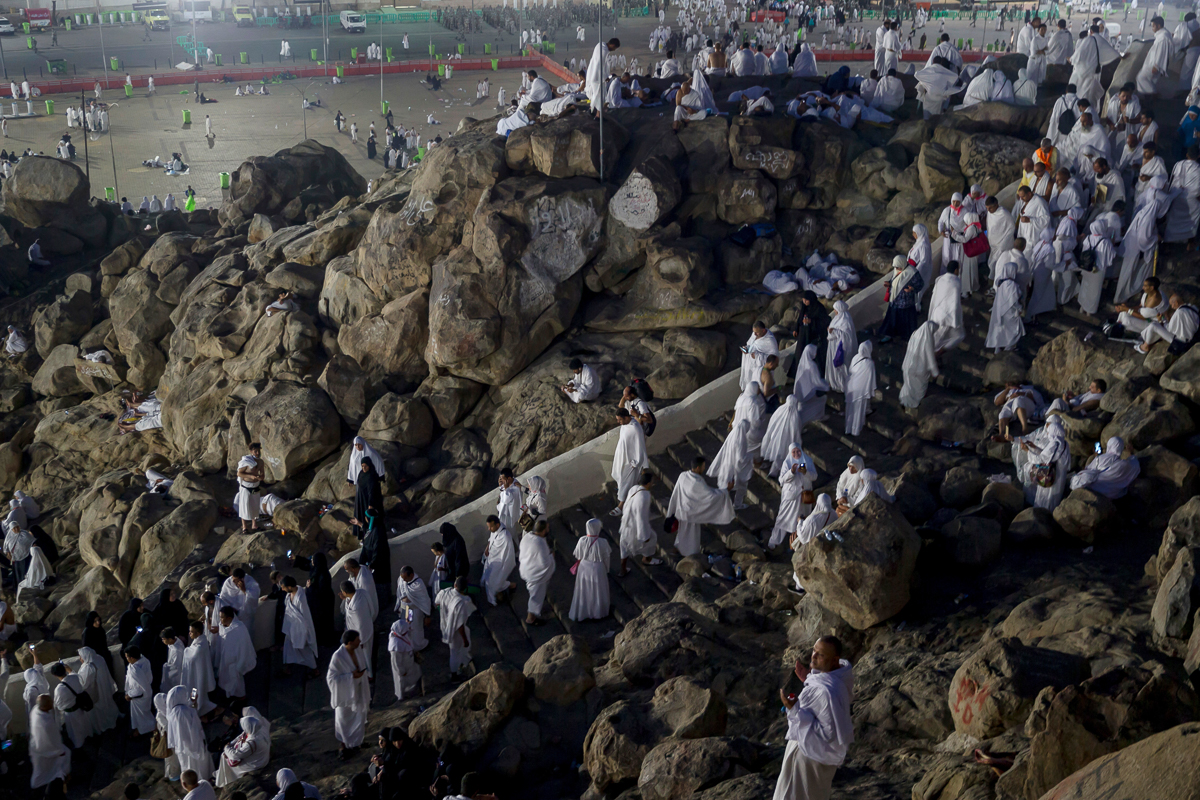 More than 2 million Muslims are taking part in this year's Hajj pilgrimage. [Dar Yasin/AP Photo]