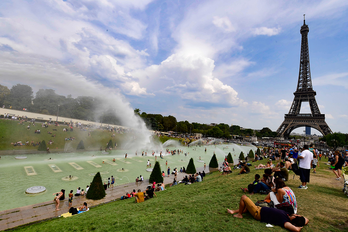 Temperatures have again been 30+ degrees Celsius in recent days across much of Europe, including Paris. [Caroline Blumberg/EPA]