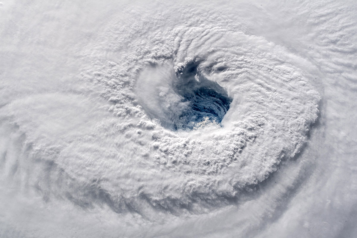The eye of Hurricane Florence as seen from the International Space Station (ISS). [Alexander Gerst/NASA]