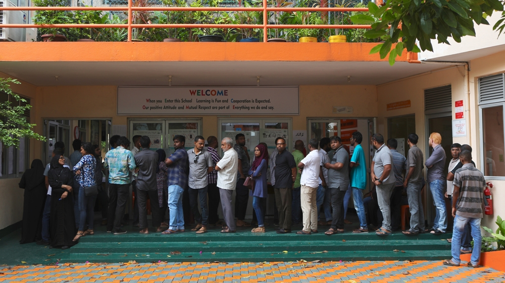 Maldives votes in high stakes election seen as test for democracy